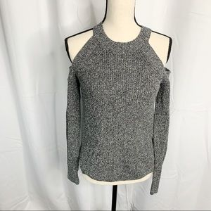 Rag & bone gray cold shoulder sweater extra small